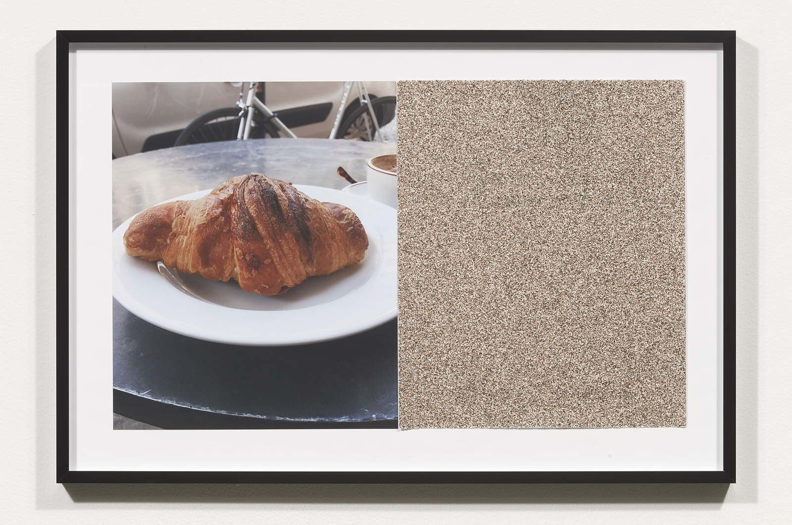Wermers_Croissants & Architecture #20, 2016_C-print, sandpaper sheet, framed_14 3_8 x 21 1_2 in_NW00061PG