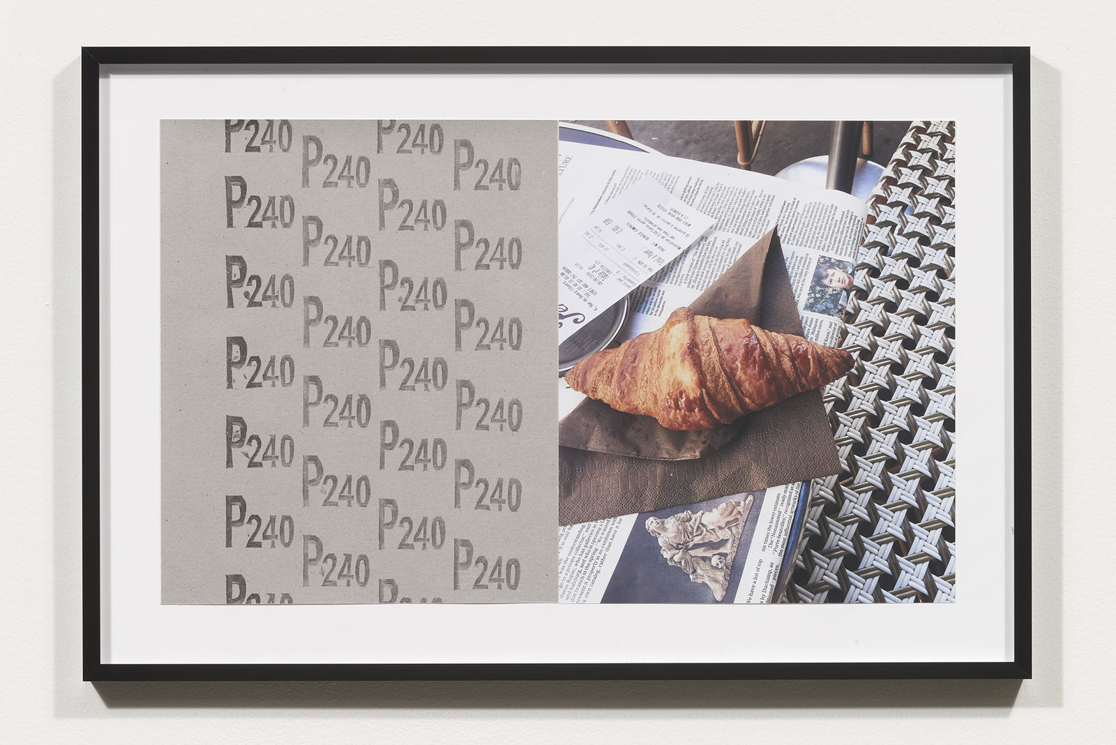 Wermers_Croissants & Architecture #22, 2016_C-print, sandpaper sheet, framed_14 3_8 x 21 1_2 in_NW00063PG
