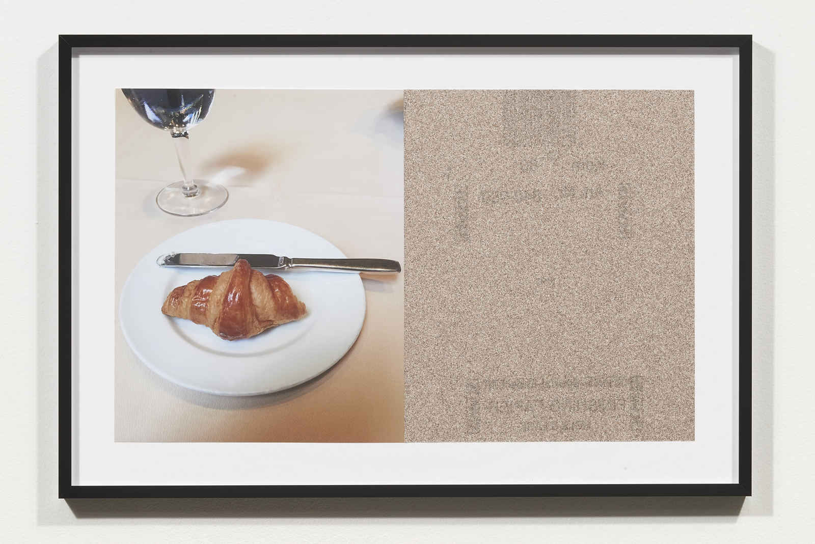Wermers_Croissants & Architecture #24, 2016_C-print, sandpaper sheet, framed_14 3_8 x 21 1_2 in_NW00065PG