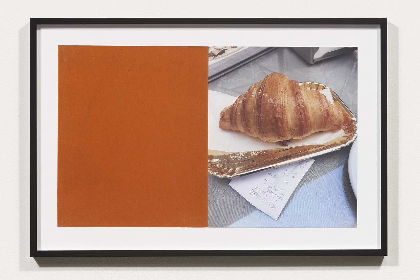 Wermers_Croissants & Architecture #25, 2016_C-print, sandpaper sheet, framed_14 3_8 x 21 1_2 in_NW00066PG