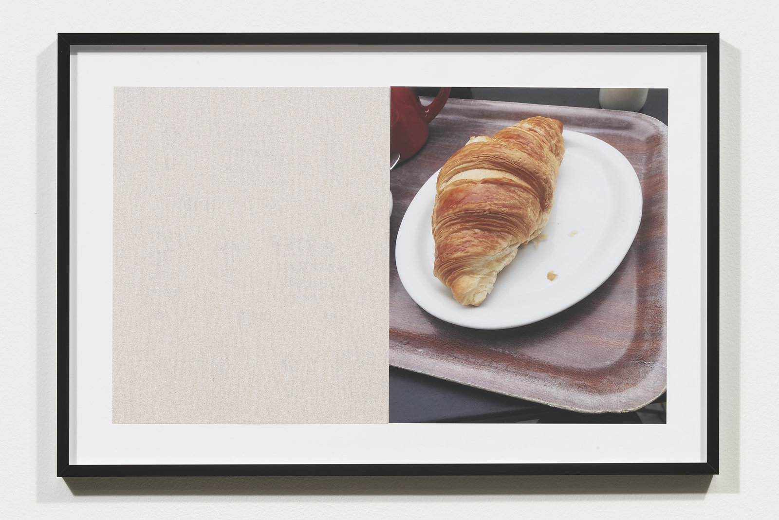 Wermers_Croissants & Architecture #26, 2016_C-print, sandpaper sheet, framed_14 3_8 x 21 1_2 in_NW00067PG