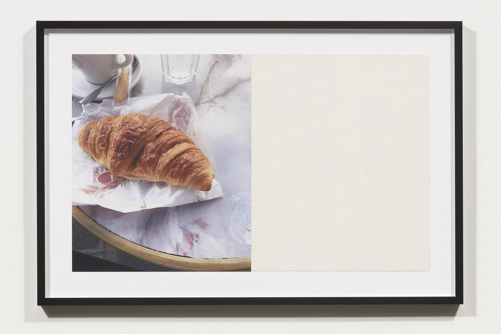 Wermers_Croissants & Architecture #27, 2016_C-print, sandpaper sheet, framed_14 3_8 x 21 1_2 in_NW00068PG