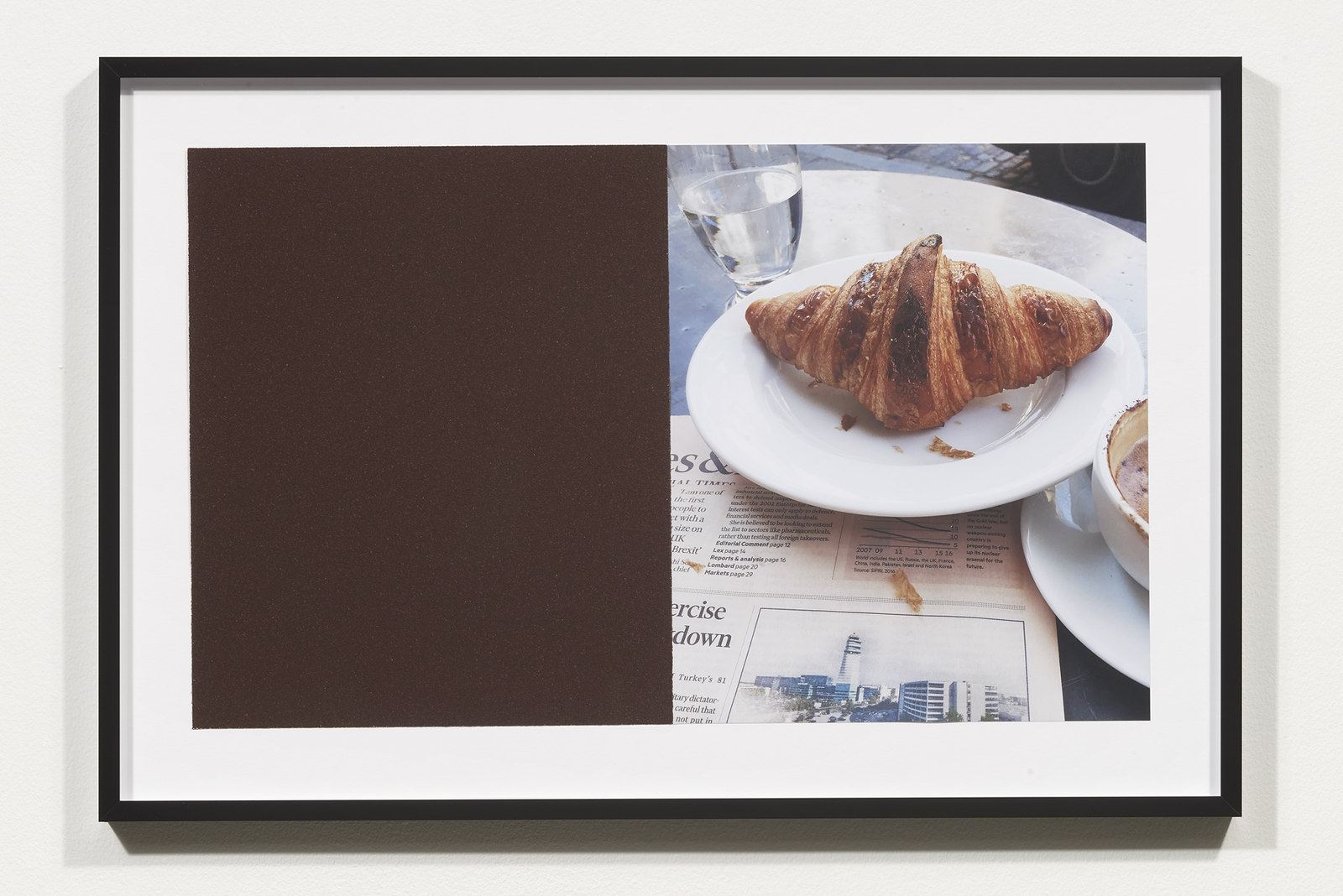 Wermers_Croissants & Architecture #28, 2016_C-print, sandpaper sheet, framed_14 3_8 x 21 1_2 in_NW00069PG