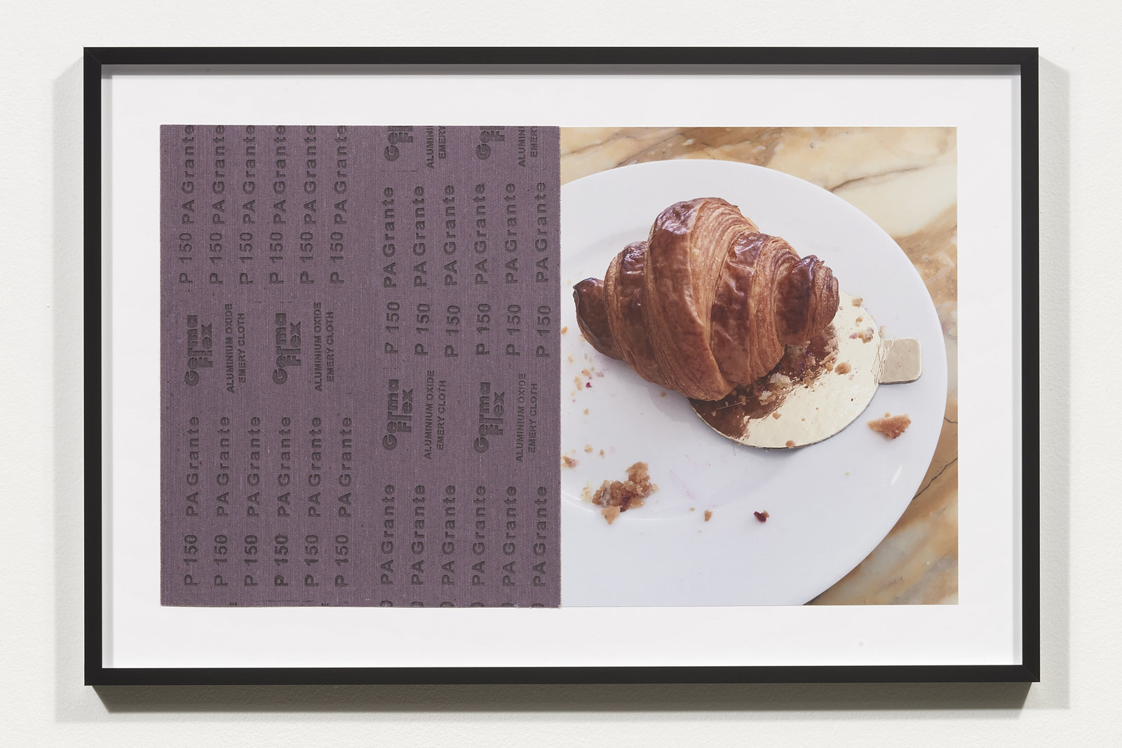 Wermers_Croissants & Architecture #3, 2016_C-print, sandpaper sheet, framed_14 3_8 x 21 1_2 in_NW00044PG
