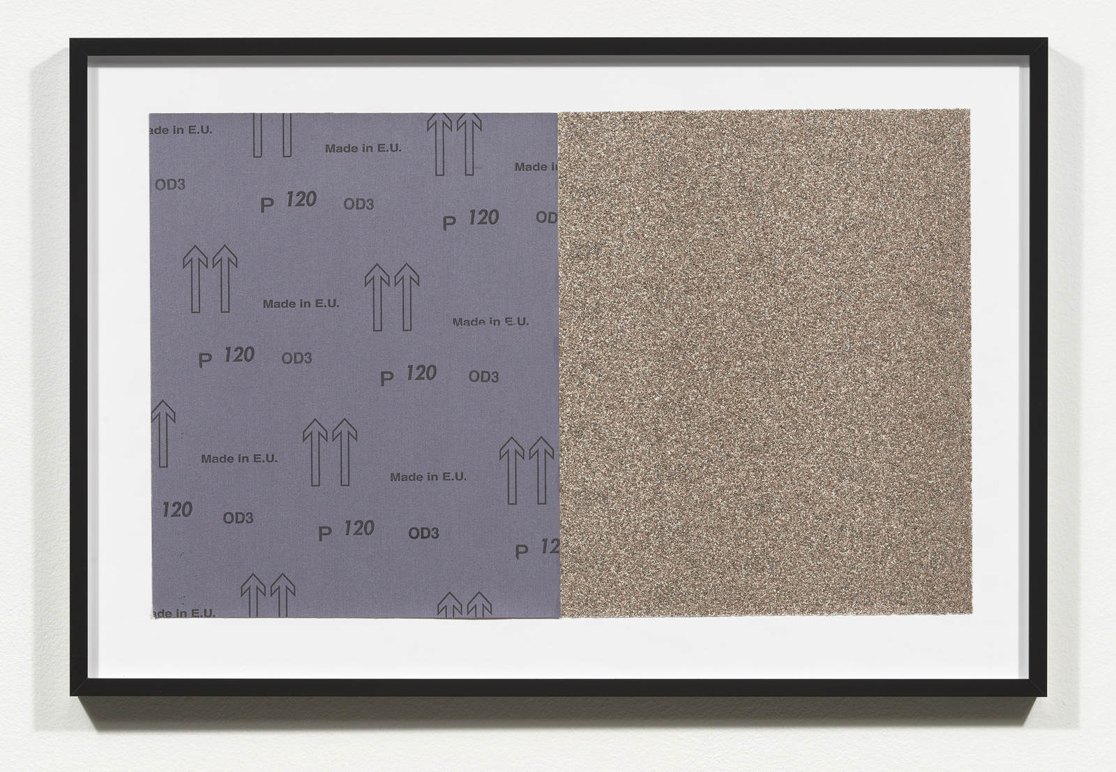 Wermers_Croissants & Architecture #30, 2016_C-print, sandpaper sheet, framed_14 3_8 x 21 1_2 in_NW0004PG