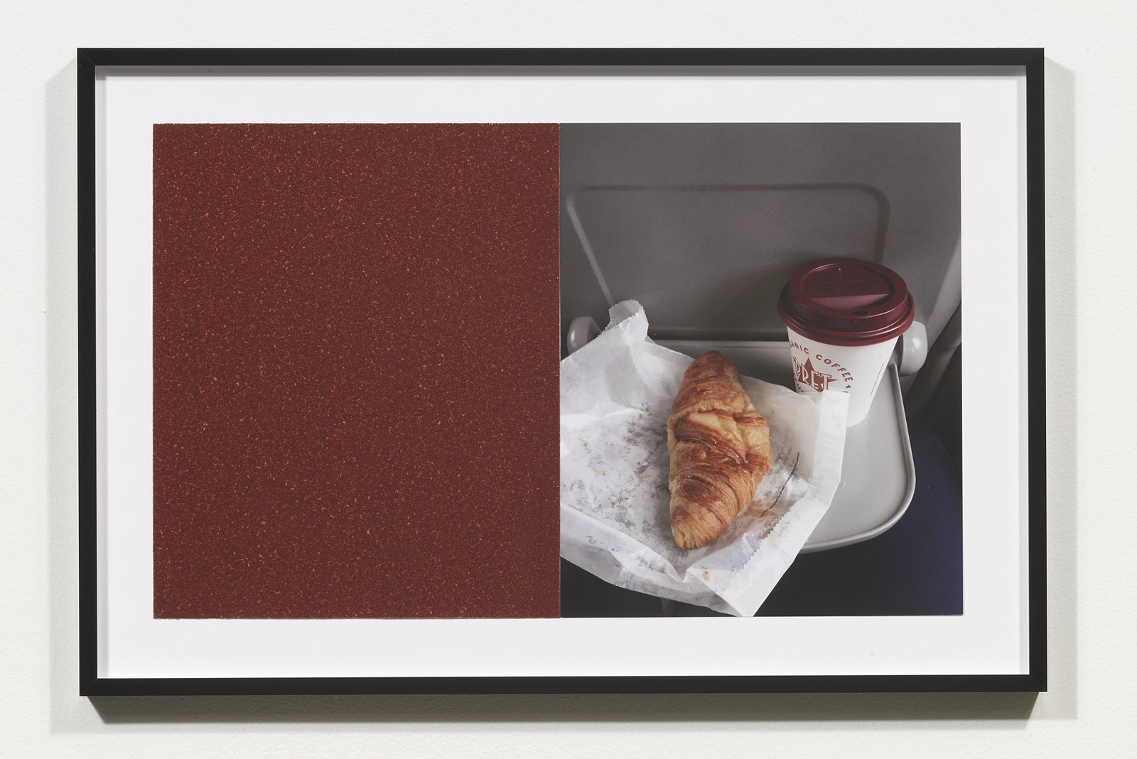 Wermers_Croissants & Architecture #4, 2016_C-print, sandpaper sheet, framed_14 3_8 x 21 1_2 in_NW00045PG