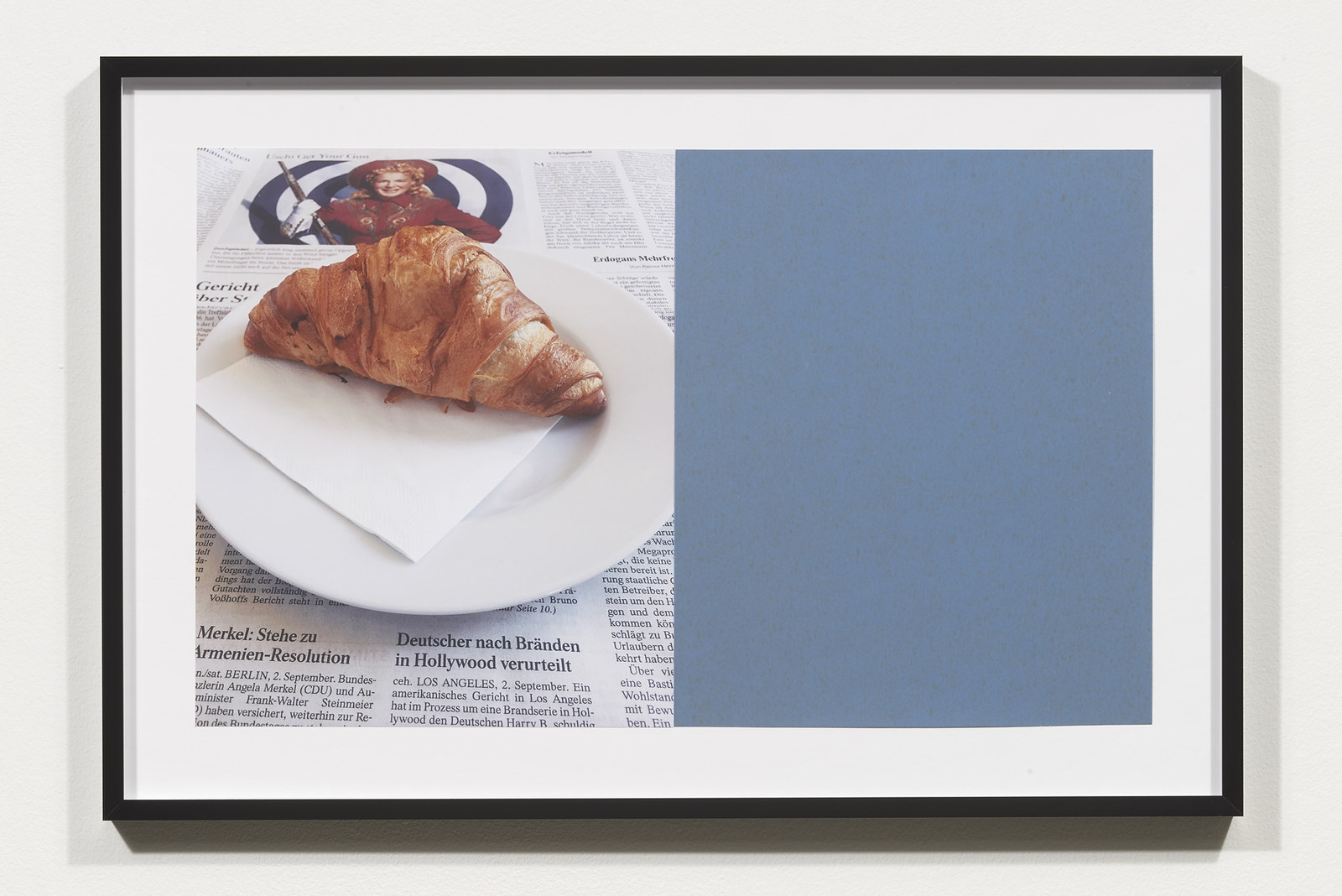 Wermers_Croissants & Architecture #5, 2016_C-print, sandpaper sheet, framed_14 3_8 x 21 1_2 in_NW00046PG
