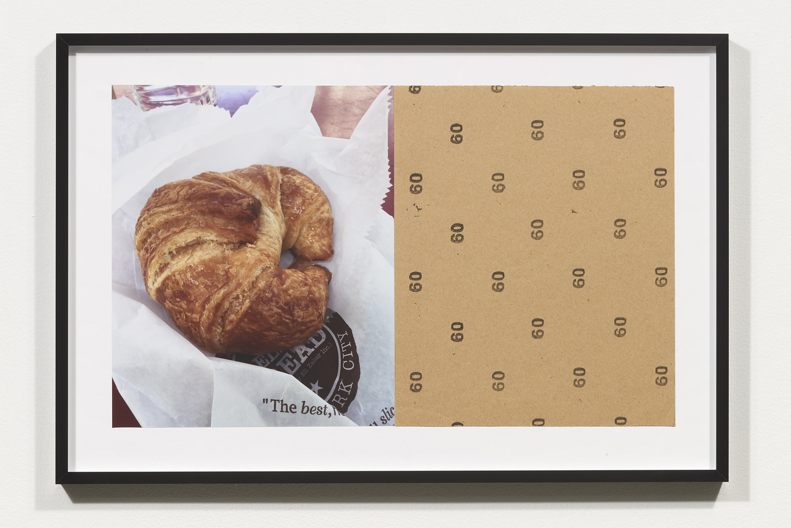 Wermers_Croissants & Architecture #6, 2016_C-print, sandpaper sheet, framed_14 3_8 x 21 1_2 in_NW00047PG