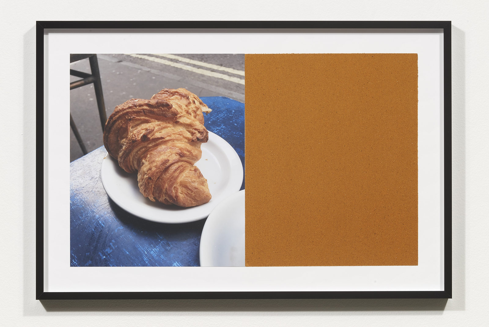 Wermers_Croissants & Architecture #7, 2016_C-print, sandpaper sheet, framed_14 3_8 x 21 1_2 in_NW00048PG