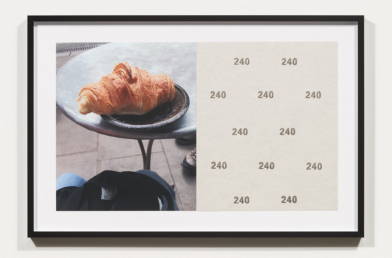 Wermers_Croissants & Architecture #8, 2016_C-print, sandpaper sheet, framed_14 3_8 x 21 1_2 in_NW00049PG