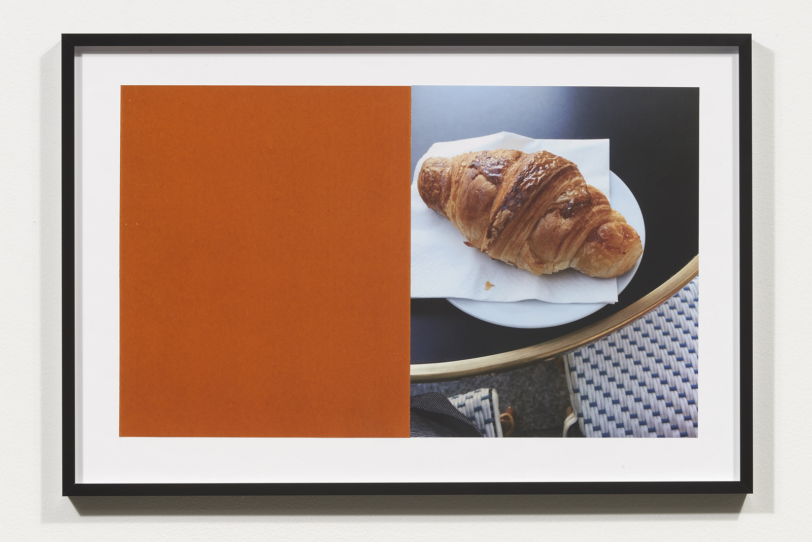 Wermers_Croissants & Architecture #9, 2016_C-print, sandpaper sheet, framed_14 3_8 x 21 1_2 in_NW00050PG