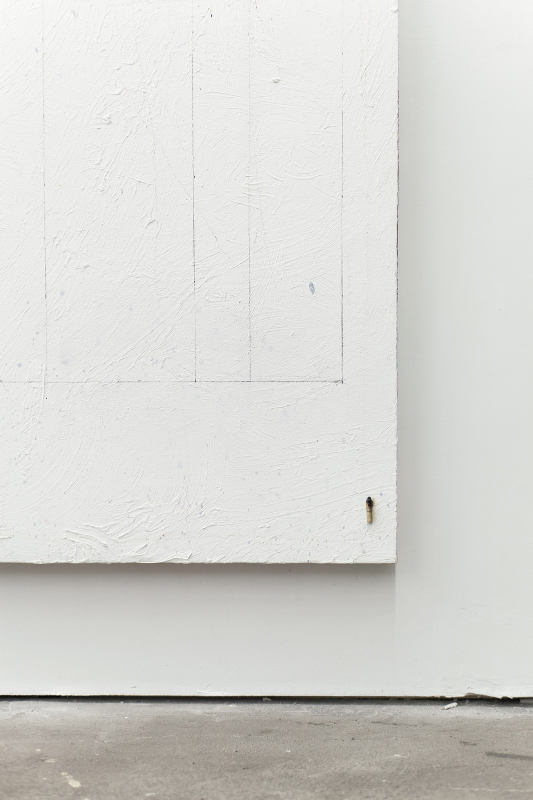 023_Jean-François Lauda. Untitled 39. Acrylic on canvas, collage, cigarette butt.213.5 x 183 cm. 2012_2016. (Detail)