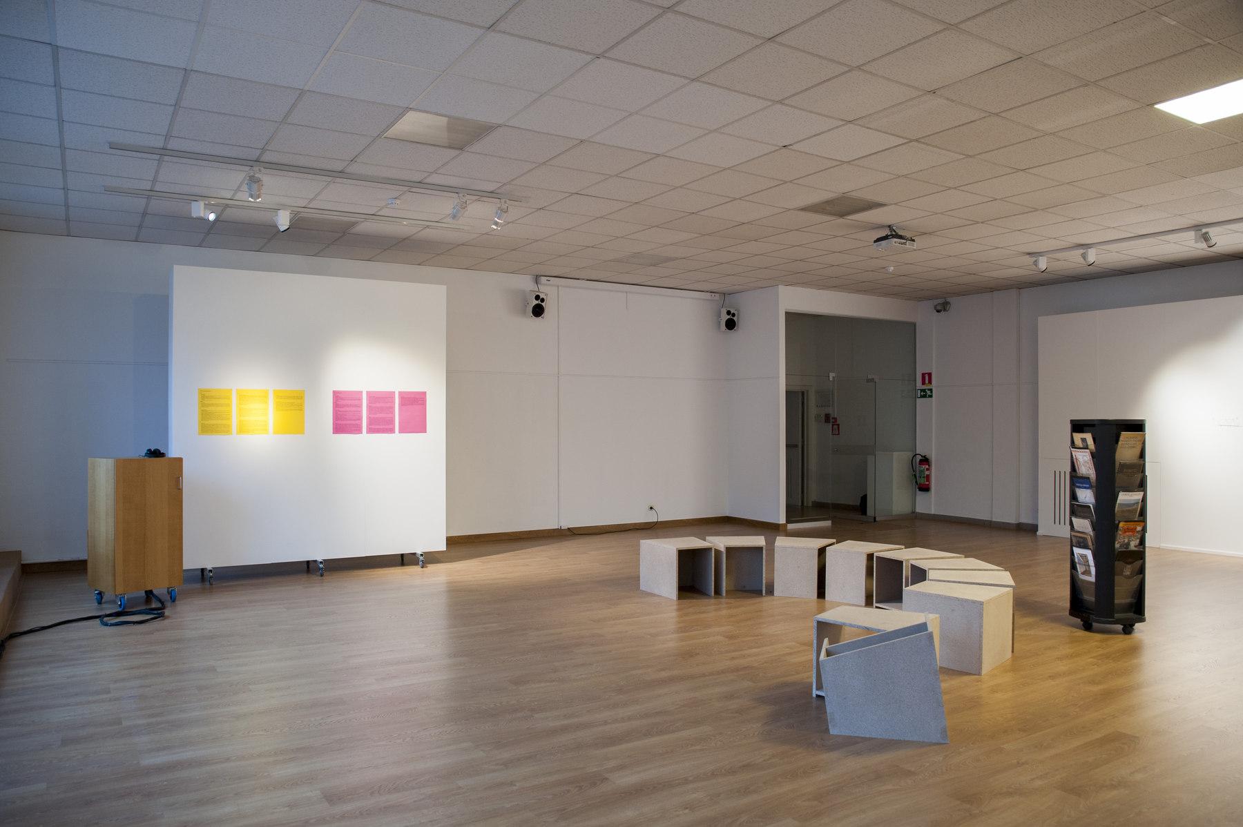 Raffaella Crispino- Hans Demeulenaere, installation view 2