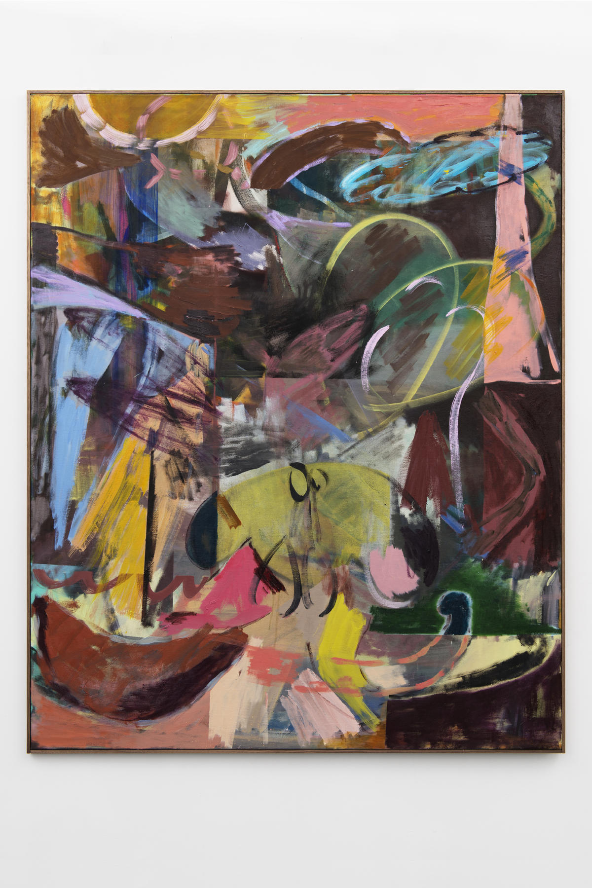 1-Jon-Pilkington-To-Be-Titled-Oil, wax crayon and lacquer on canvas -image courtesy CINNNAMON Rotterdam