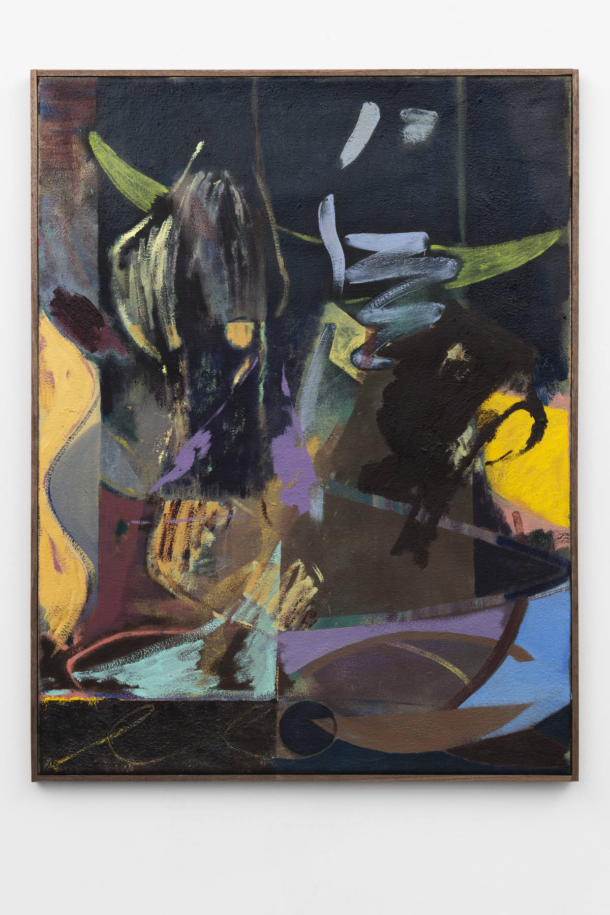2-Jon-Pilkington-To-Be-Titled-Oil, wax crayon and lacquer on canvas -image courtesy CINNNAMON Rotterdam
