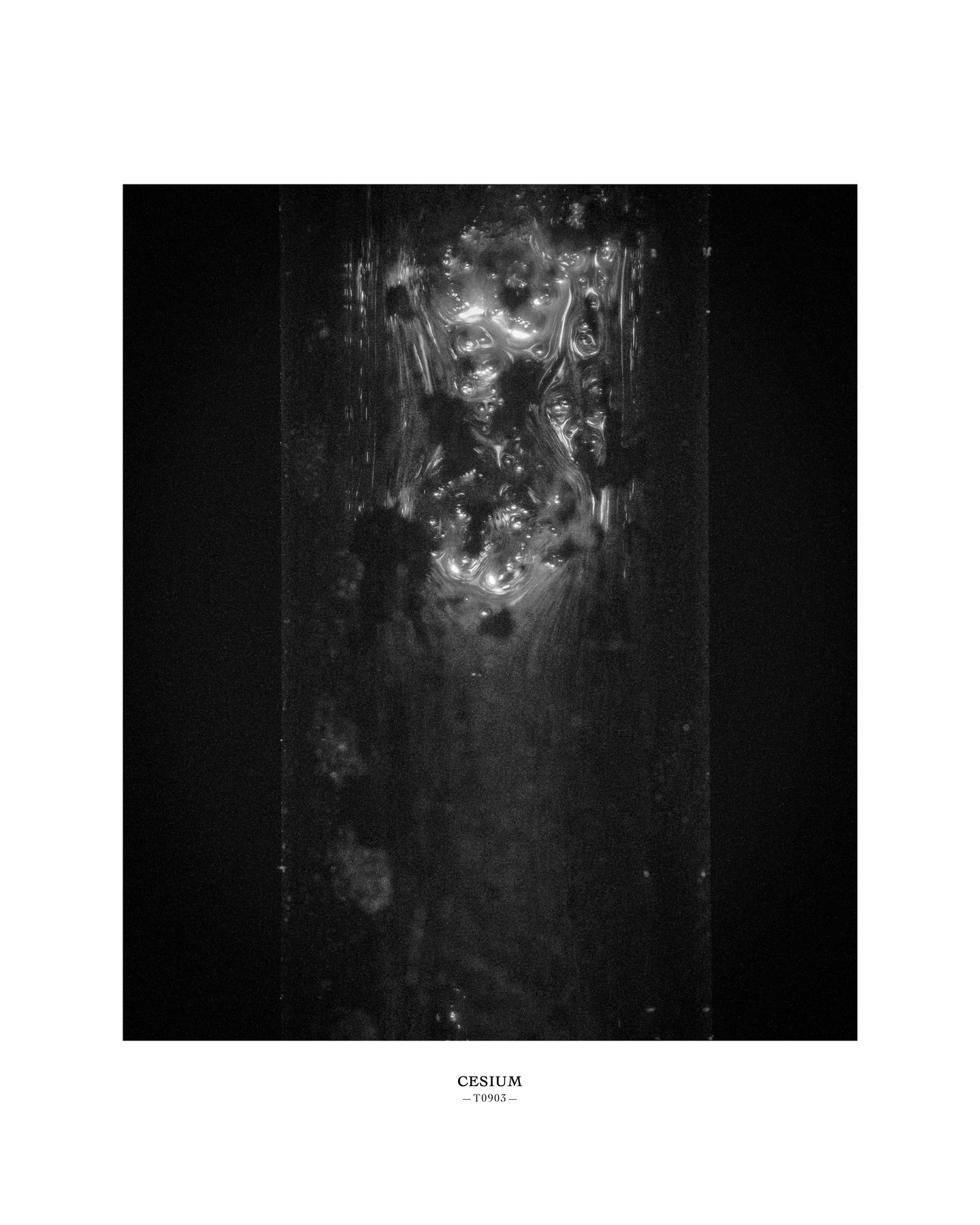 Melik Ohanian, Portrait of Duration — Cesium Series (T0903), 2015, Black and white photograph, 53 x 43 x 5cm (framed), 1_1 + 1 AP