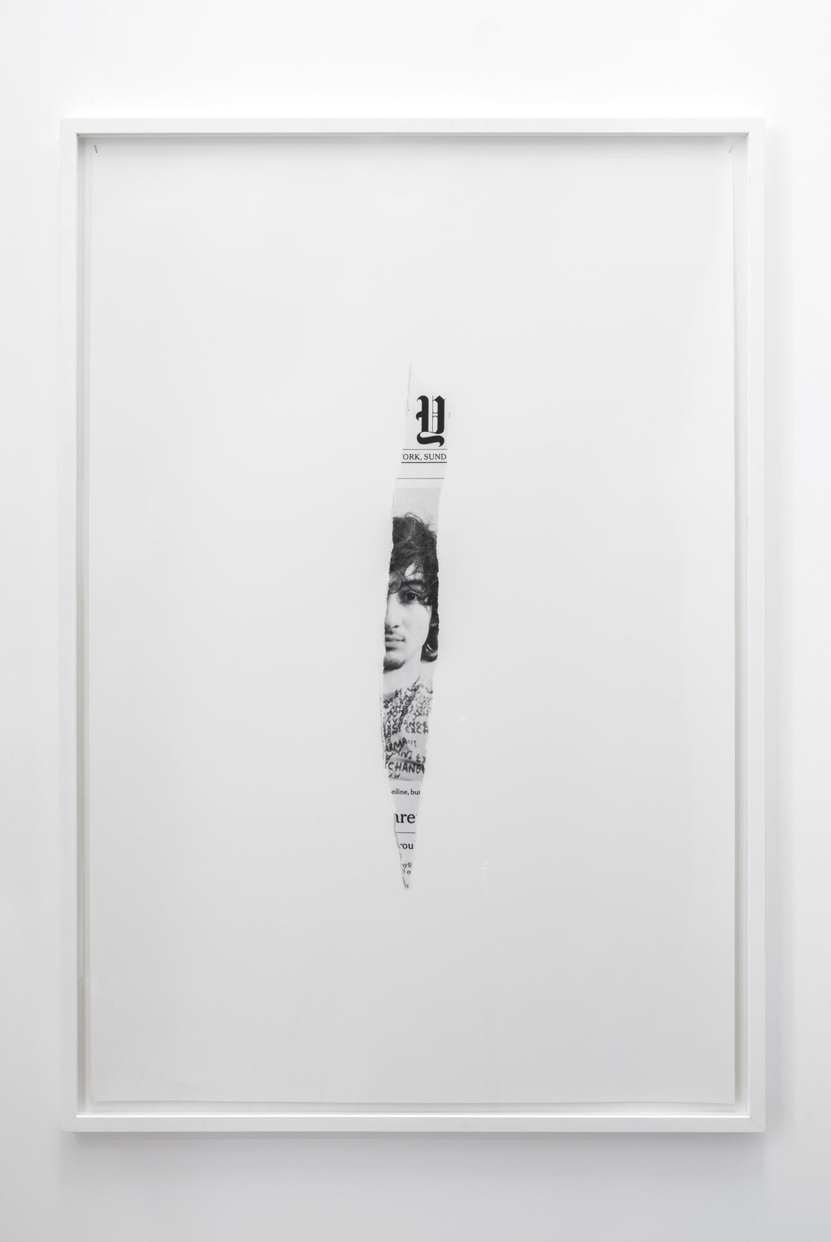 Melik Ohanian, Post-Image — 2013.05.05, 2014, Black and white photograph, 124 x 84 x 3cm (framed), 2_3