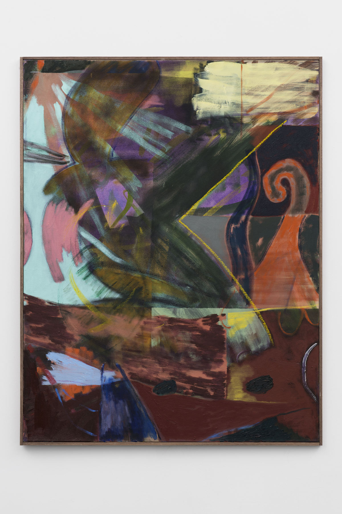 5-Jon-Pilkington-To-Be-Titled-Oil, wax crayon and lacquer on canvas -image courtesy CINNNAMON Rotterdam