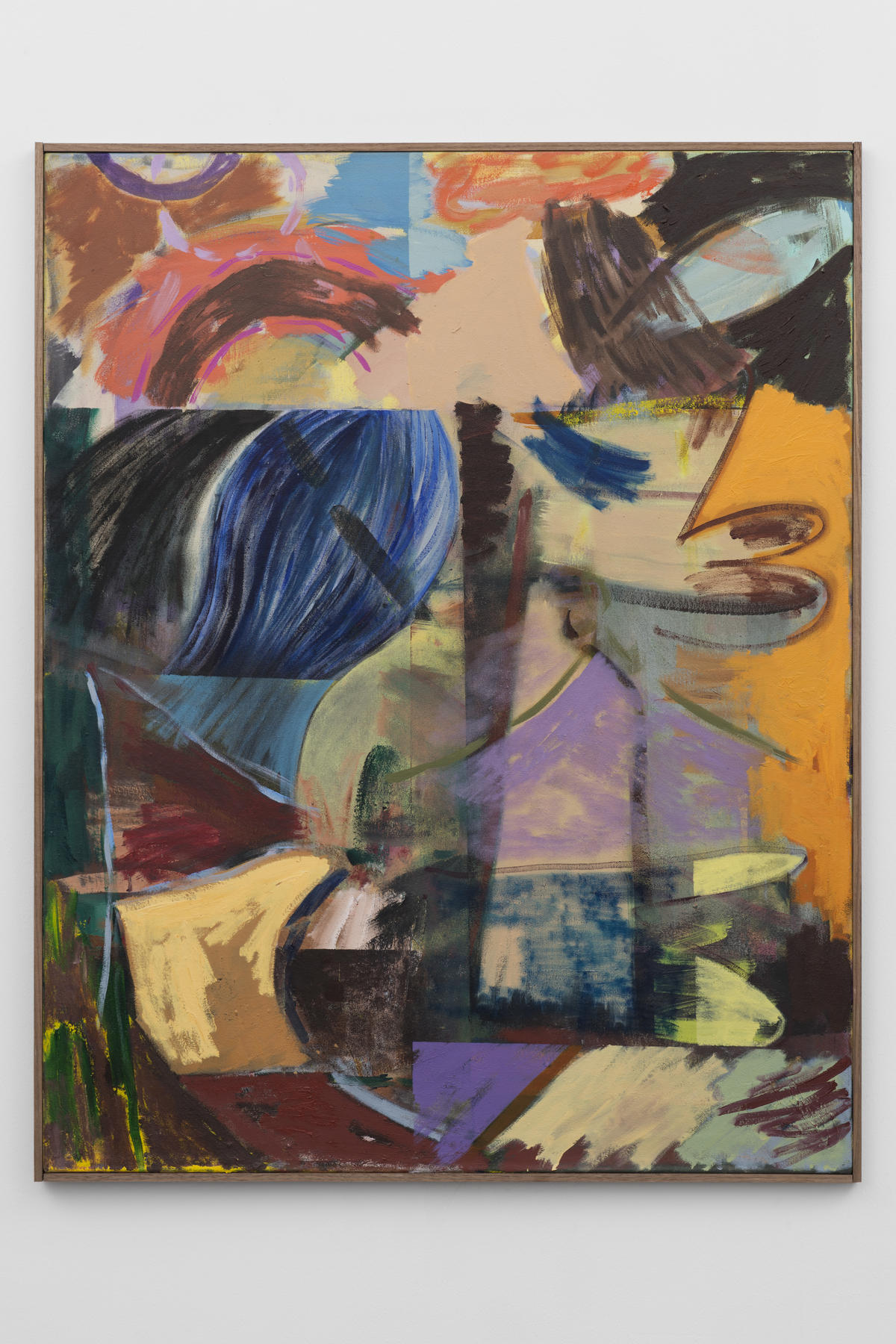 6-Jon-Pilkington-To-Be-Titled-Oil, wax crayon and lacquer on canvas -image courtesy CINNNAMON Rotterdam