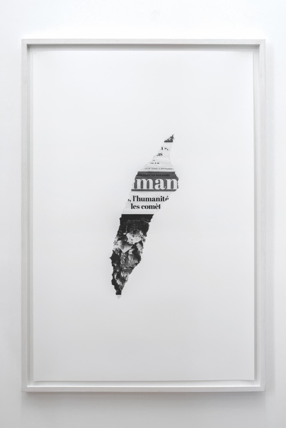 Melik Ohanian, Post-Image — 2013.11.24, 2014, Black and white photograph, 124 x 84 x 3cm (framed), 1_3