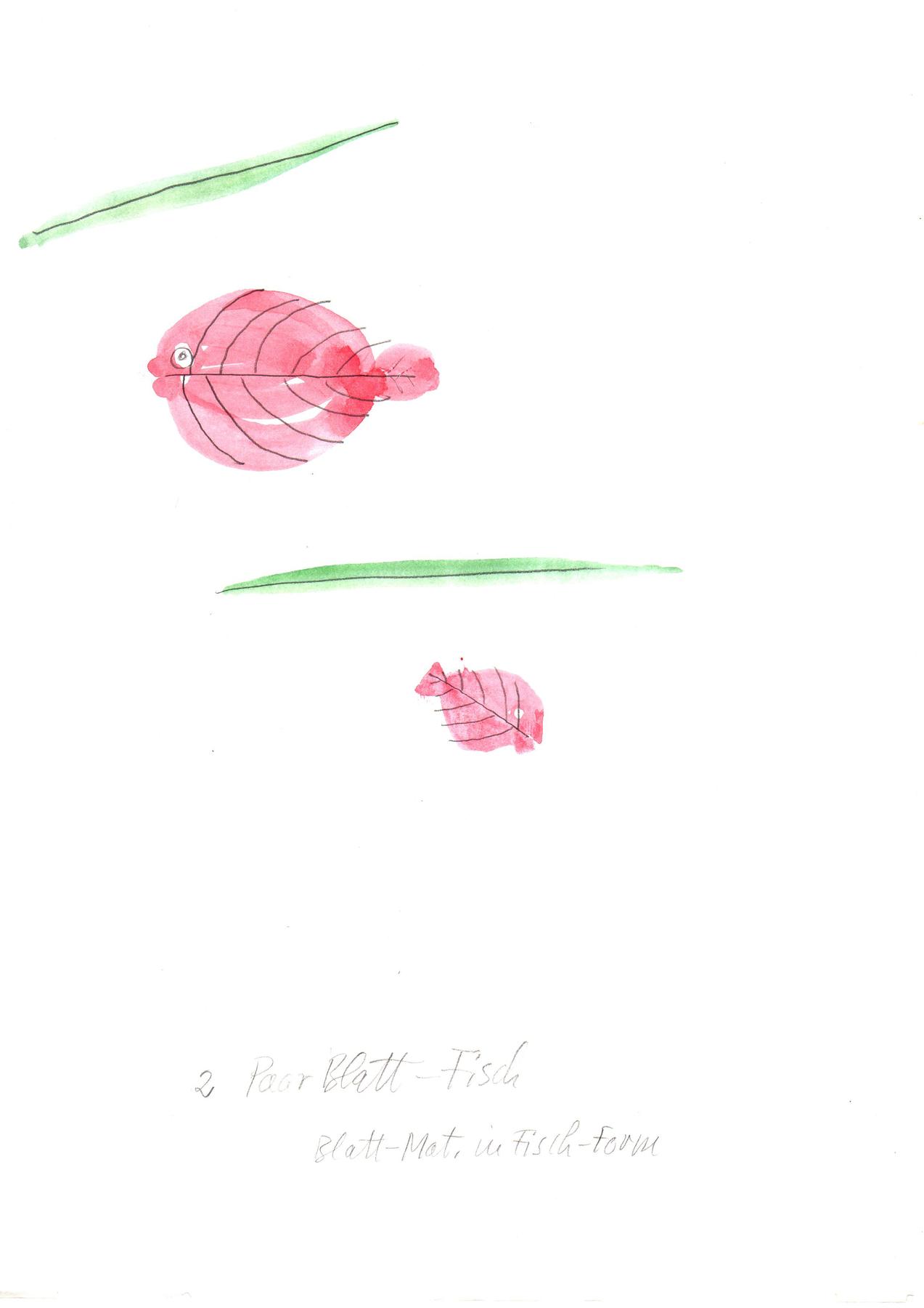 Boehmler, 2 Paar Blatt Fisch, 1997, 29,7x21cm