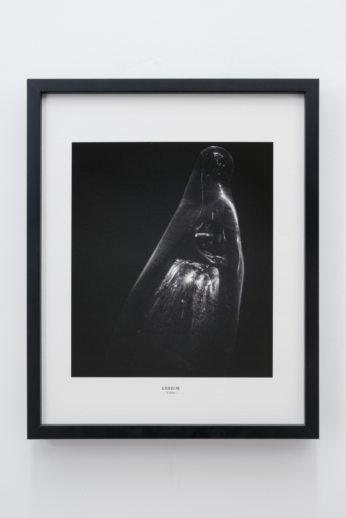 Melik Ohanian, Portrait of Duration — Cesium Series (T1004), 2015, Black and white photograph, 53 x 43 x 5cm (framed), 1_1 + 1 AP