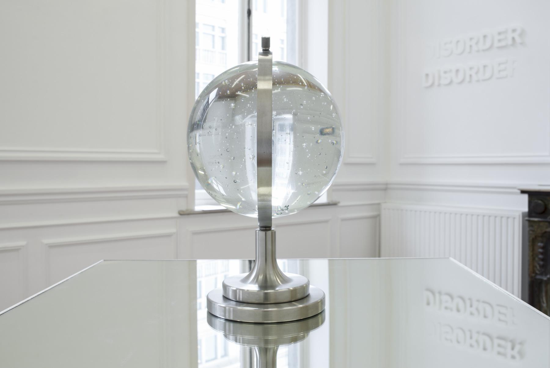 Melik Ohanian, Futuring (cosmos), 2011, Glass, metal, mirror, Glass ball Ø 30 cm, Pedestal and mirror 100 x 100 x 100cm, 1_3